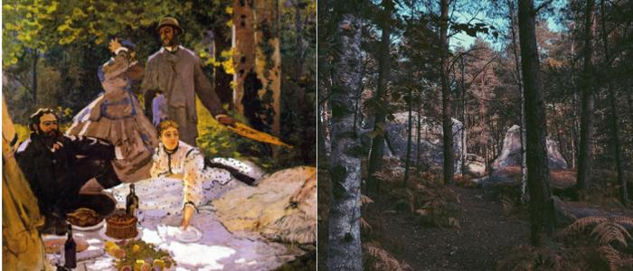 La Colazione sull'Erba di Monet e la foresta di Fontainebleau